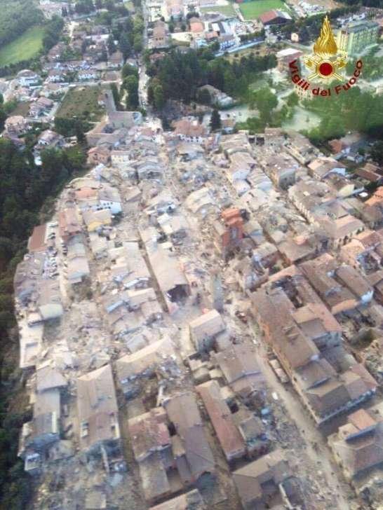 Le zone colpite dal sisma