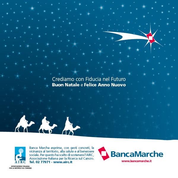 Biglietti Di Natale Airc.Banca Marche Gli Auguri Natalizi Saranno Firmati Airc