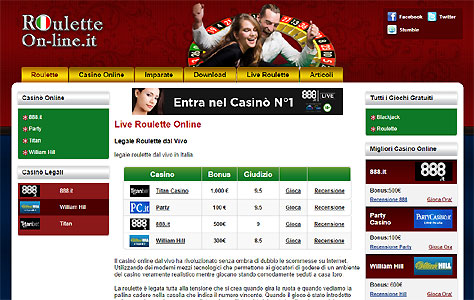 roulette on line