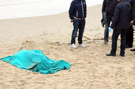 numana morto spiaggia