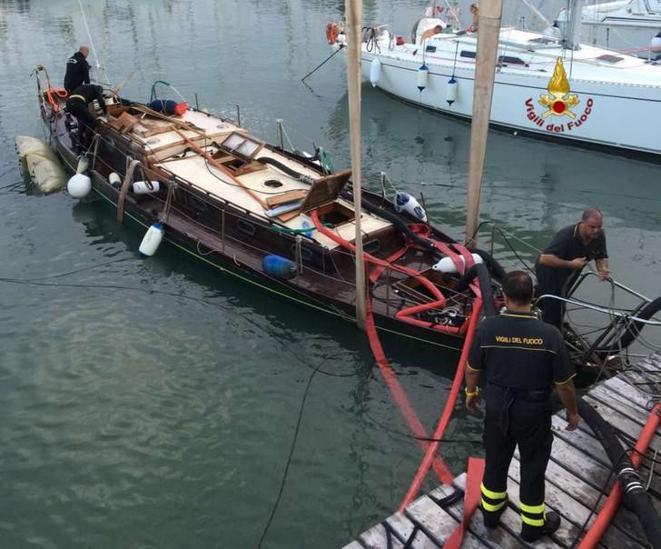 Incidente nel porto di Civitanova