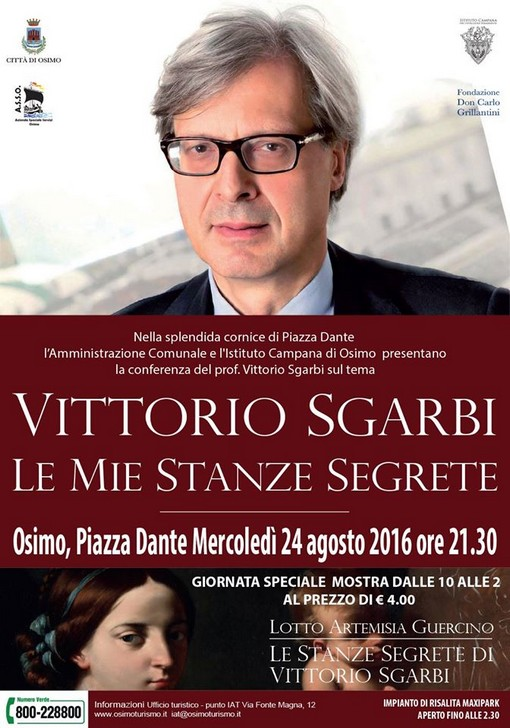 Osimo mercoled conferenza stampa di vittorio sgarbi for Le stanze segrete di sgarbi